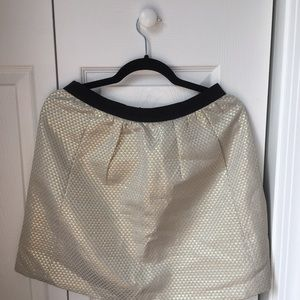 Silver, Gold & Black Ganni Anthropologie Skirt
